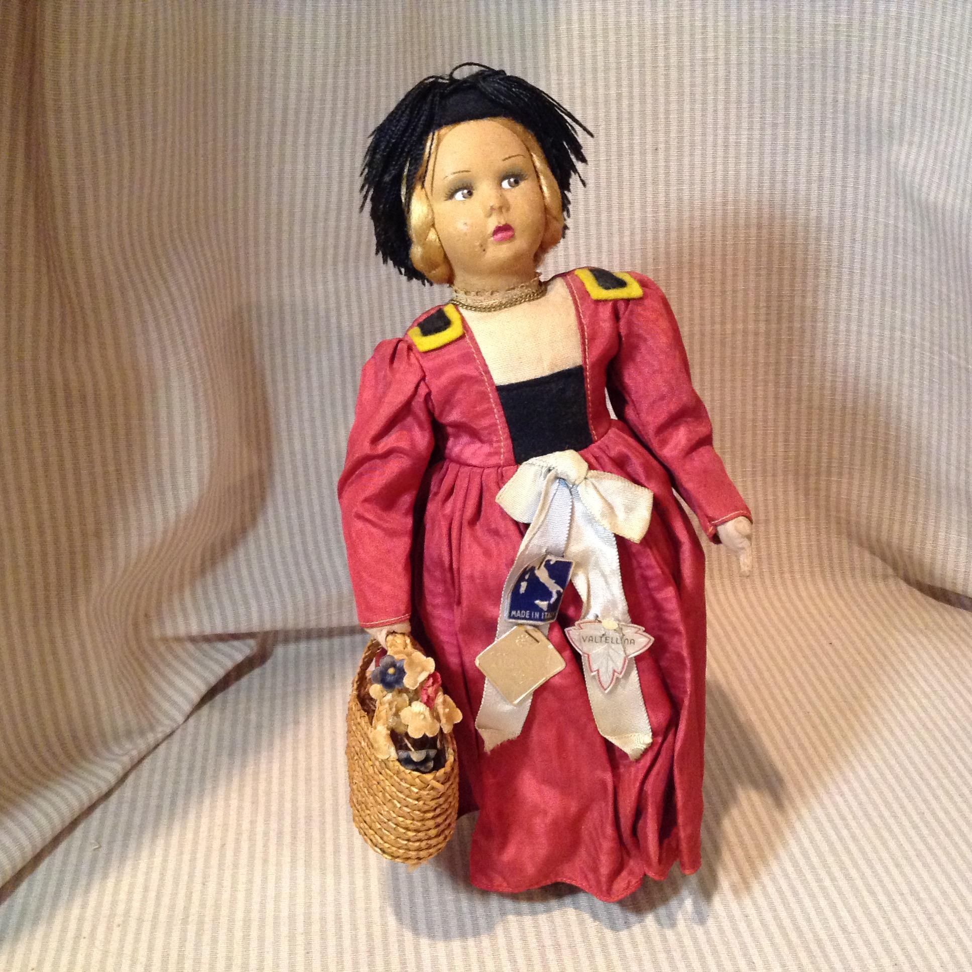"10"" Italian Magis Roma cloth doll"