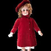 Vintage Red Velvet Coat and Hat Set