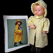 C.1914 Pouty Uneeda Biscuit Boy in Slicker