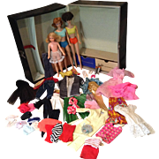1960s Barbie, Midge, Skipper, Clothes, Case