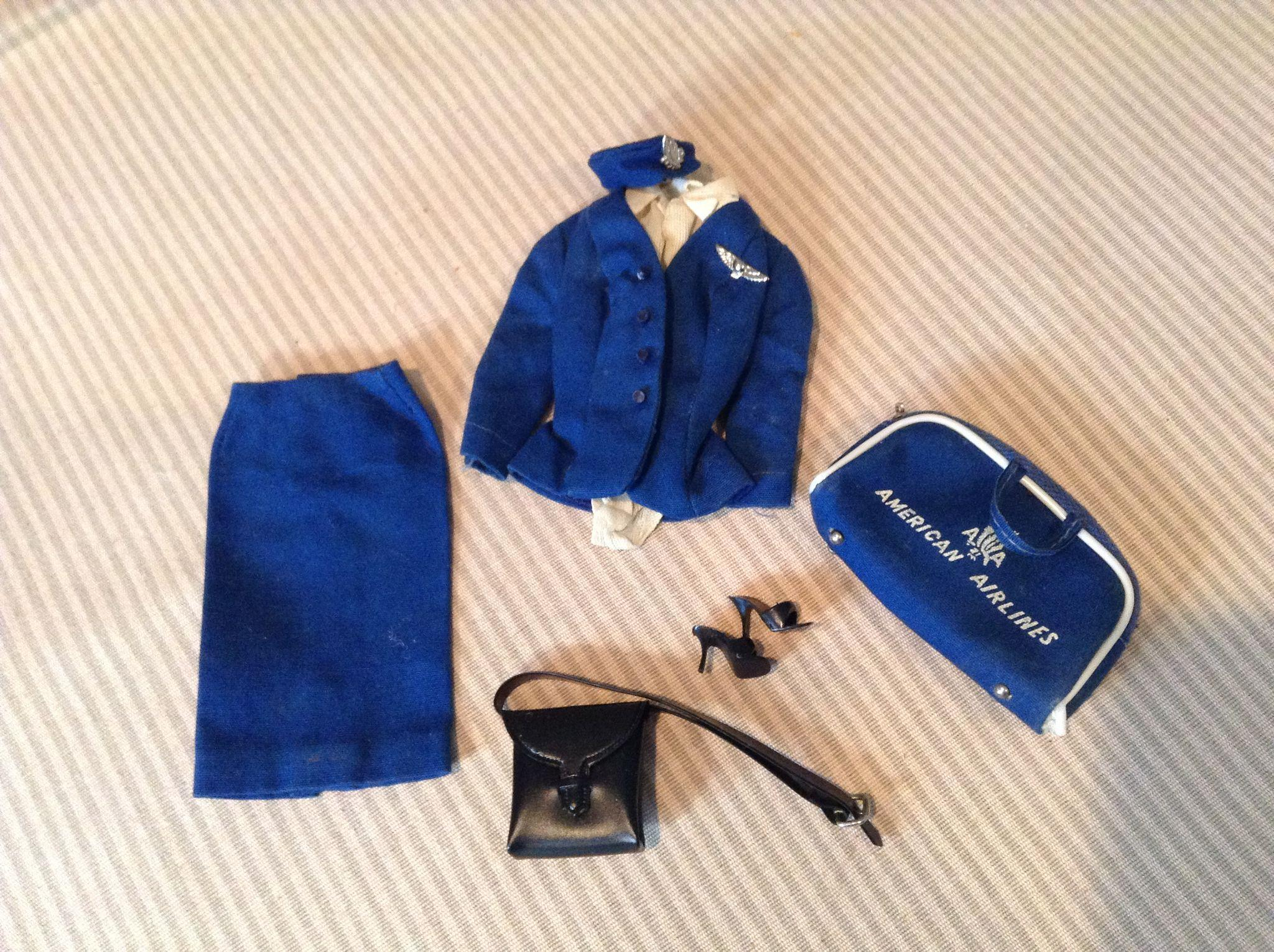 Early 1960s #984 Complete Barbie American Airlines Outfit
