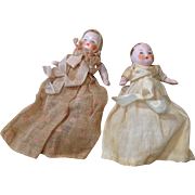 Sweet Pair 0f Hertwig Doll House Baby Dolls