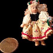 "Tiny Artist Doll ""Heidi"" by Ethel Hicks-#904"