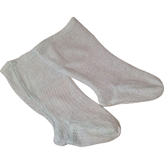 C,1900 Pale Blue Factory Made Socks