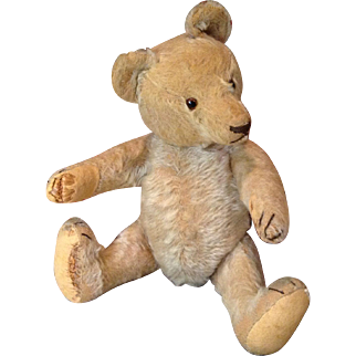 "14"" Deco Era Steiff Teddy with Love Worn Parts"