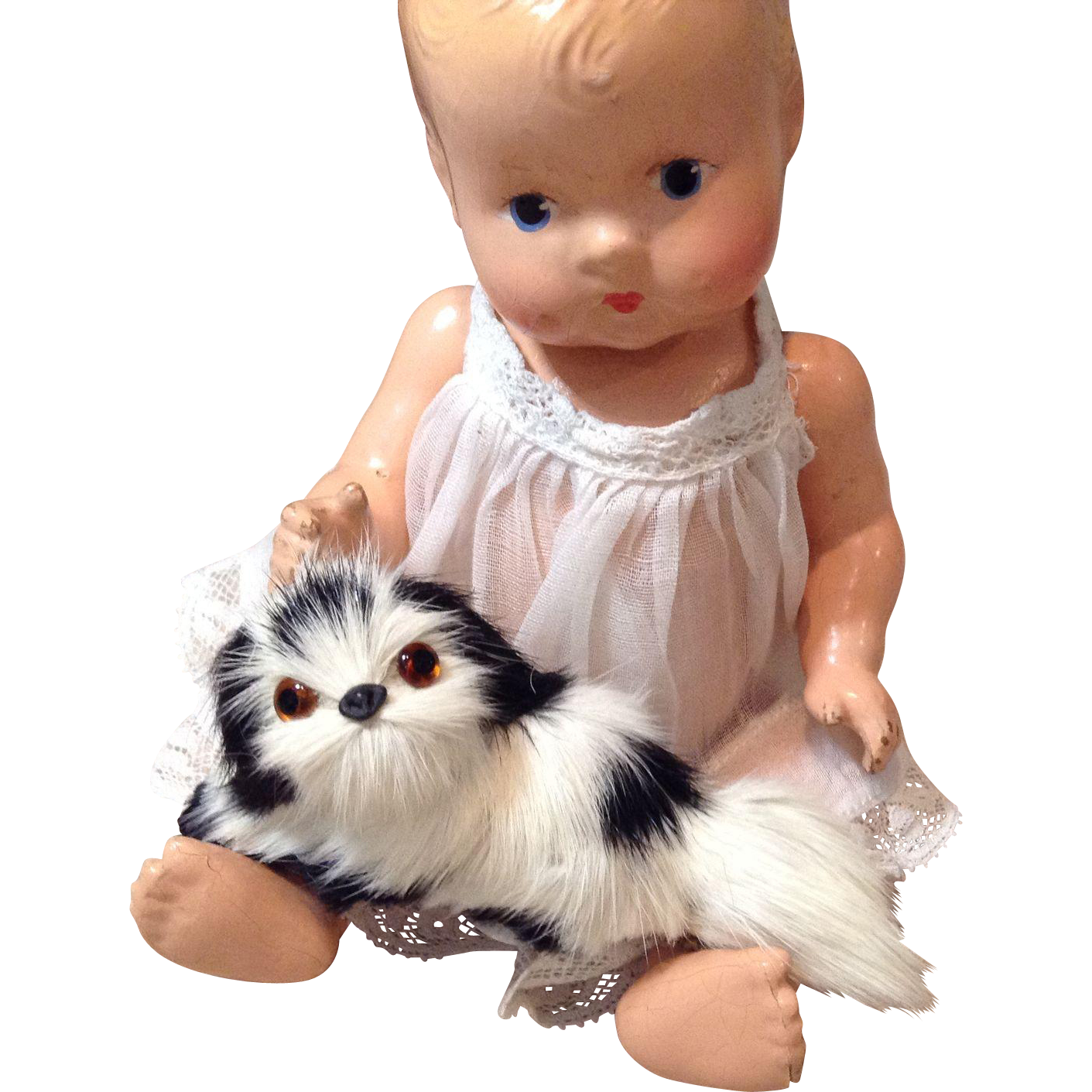 Wee Fur Spaniel Dog pet for Small Dolls
