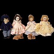 4 Mdme Alexander Little Women Dolls-Alexanderkin Size