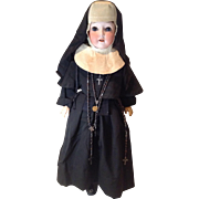 "C.1900 German Bisque 25"" Doll In Nun's Habit"