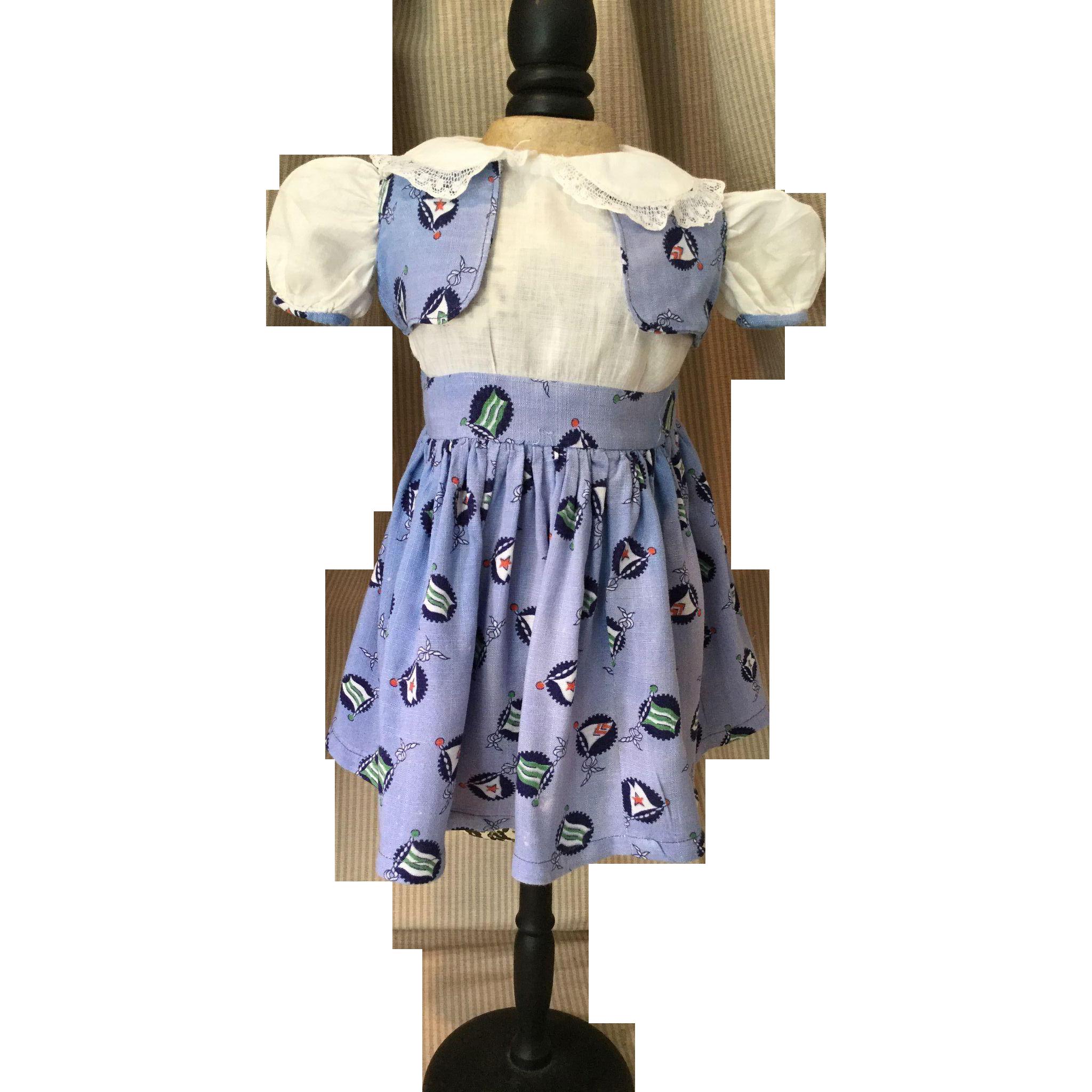 C.1940/50s Two Piece Dress and Vest Set