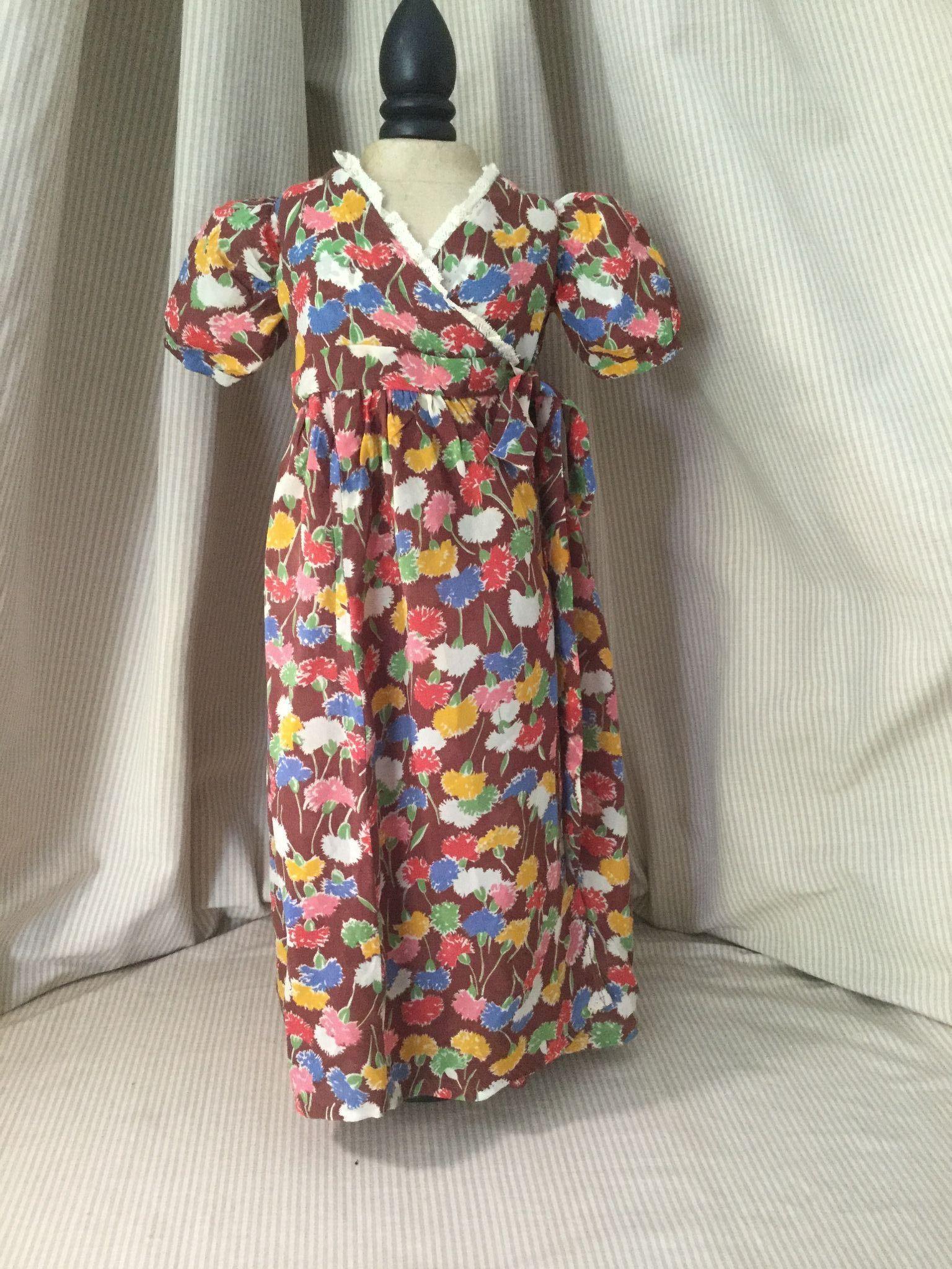 C. 1930s Silk/Rayon Doll Dressing Robe