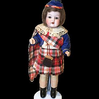 "15"" Regionally Dressed Scottish Doll Made in Germany"