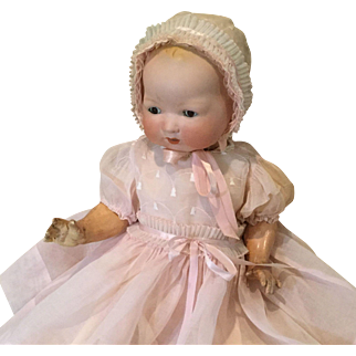 4 Piece Large Baby Doll Pink Organdy Set