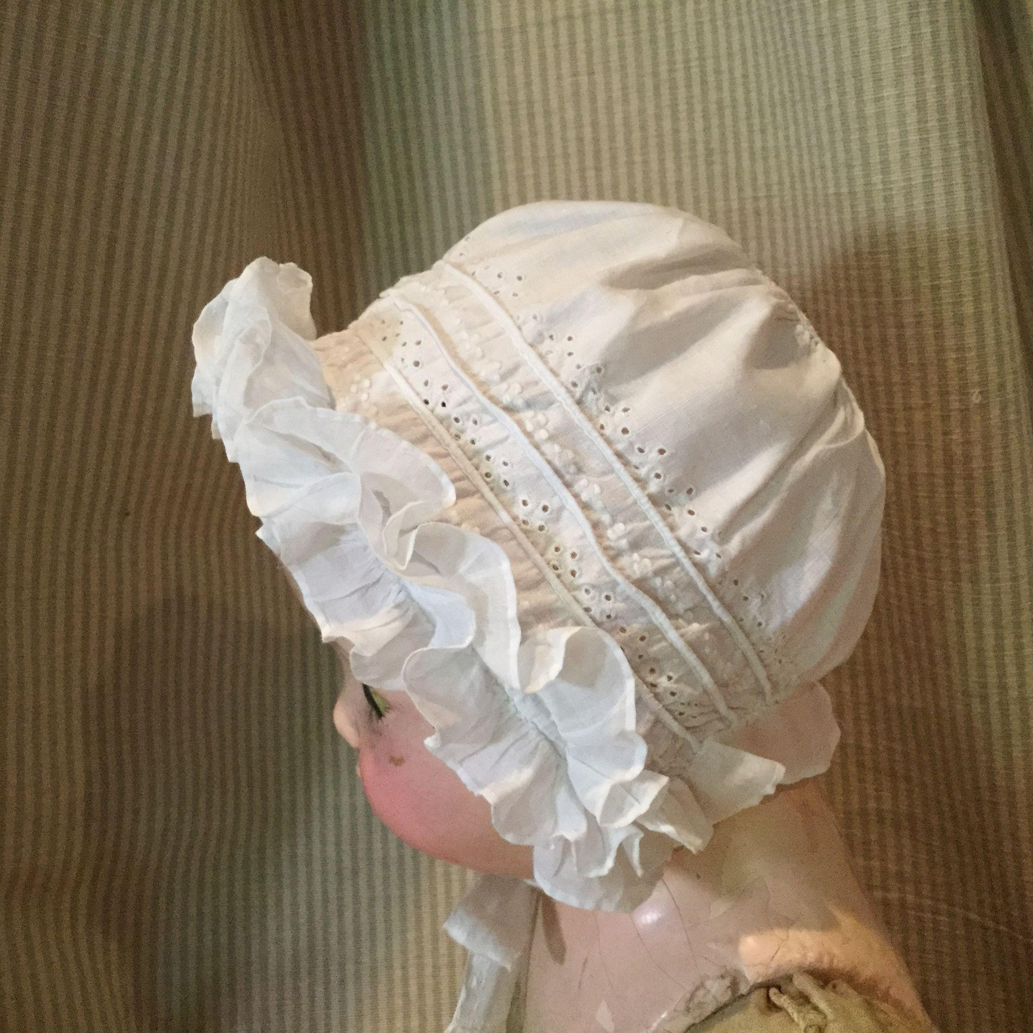 Very Fine Sewn Bonnet-All Hand Done