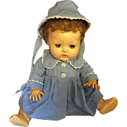 Effanbee DyDee Baby Blue Coat and Bonnet for 11""