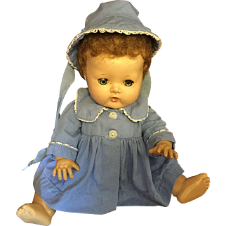 """Effanbee DyDee Baby Blue Coat and Bonnet for 11"""""""
