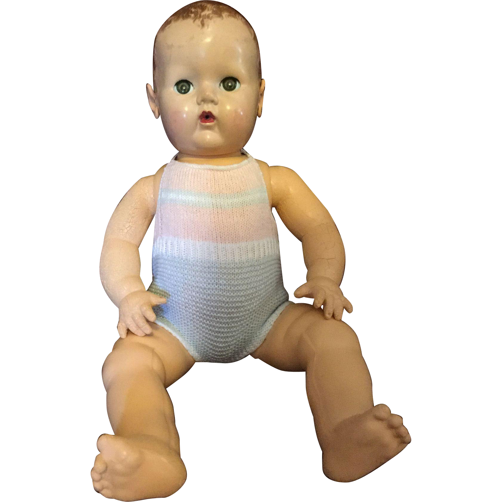"""Machine Knitted SunSuit for 20"""" DyDee Lou"""