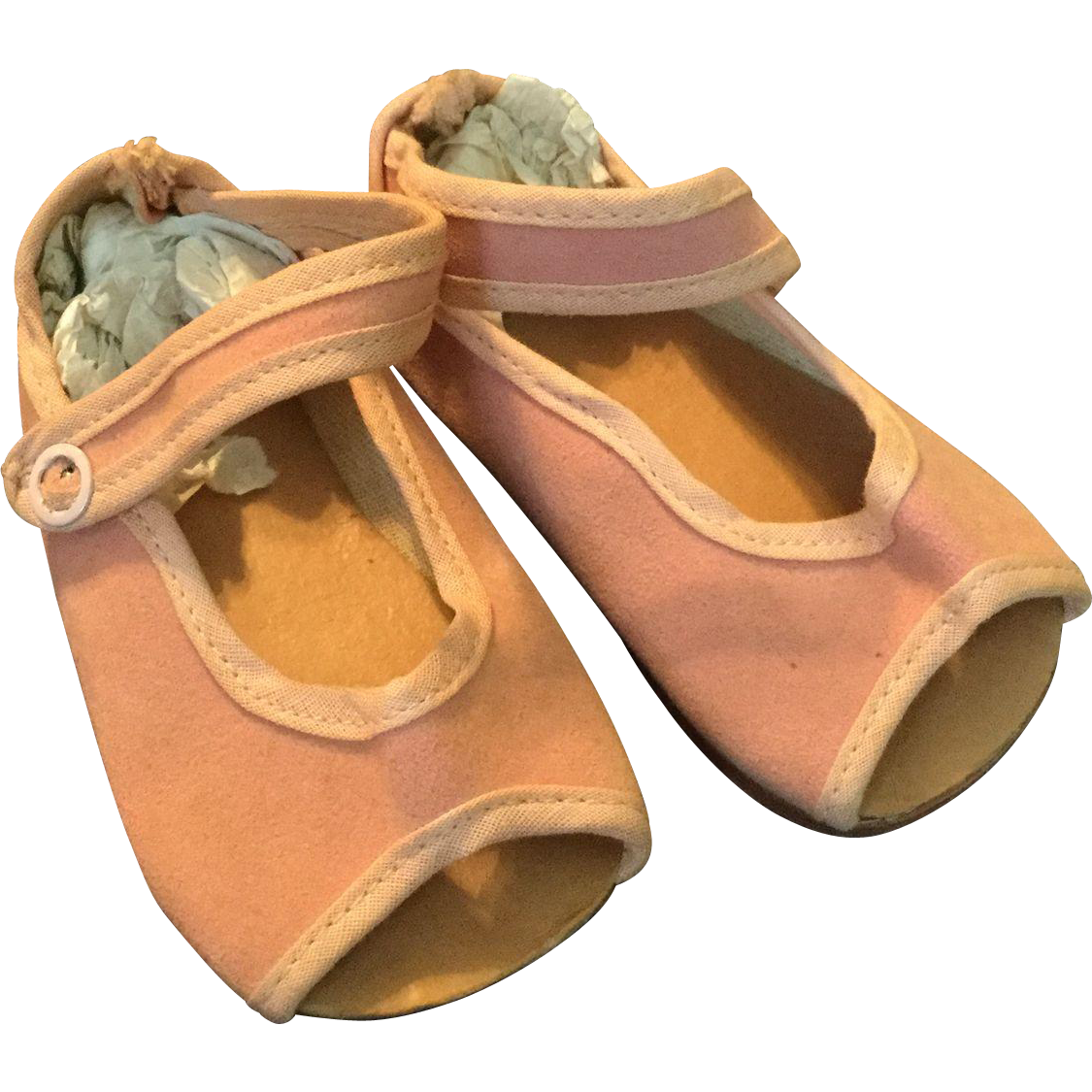Pink Sueded Doll Sandal for Large Doll
