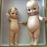 Two All Bisque German Kewpies