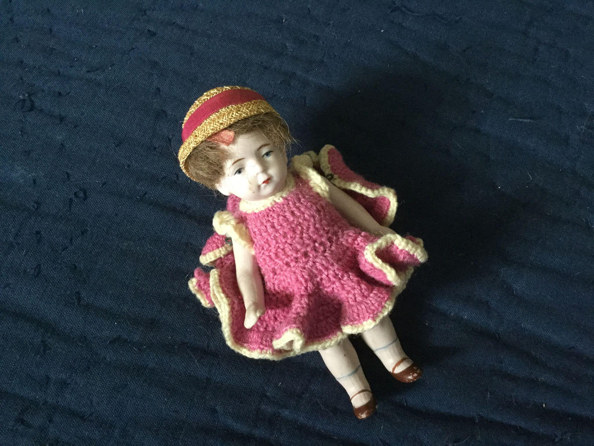 "German 4-1/2"" All Bisque Doll-#620"