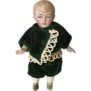 Sweet Little Boy All Bisque Doll-Germany
