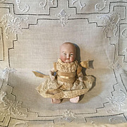 "4-1/4"" German All Bisque Baby Doll"