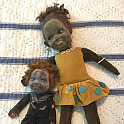 2 Glass Eyed Norah Wellings Velvet Dolls