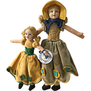 "Two Norah Wellings ""Old English"" Dolls"