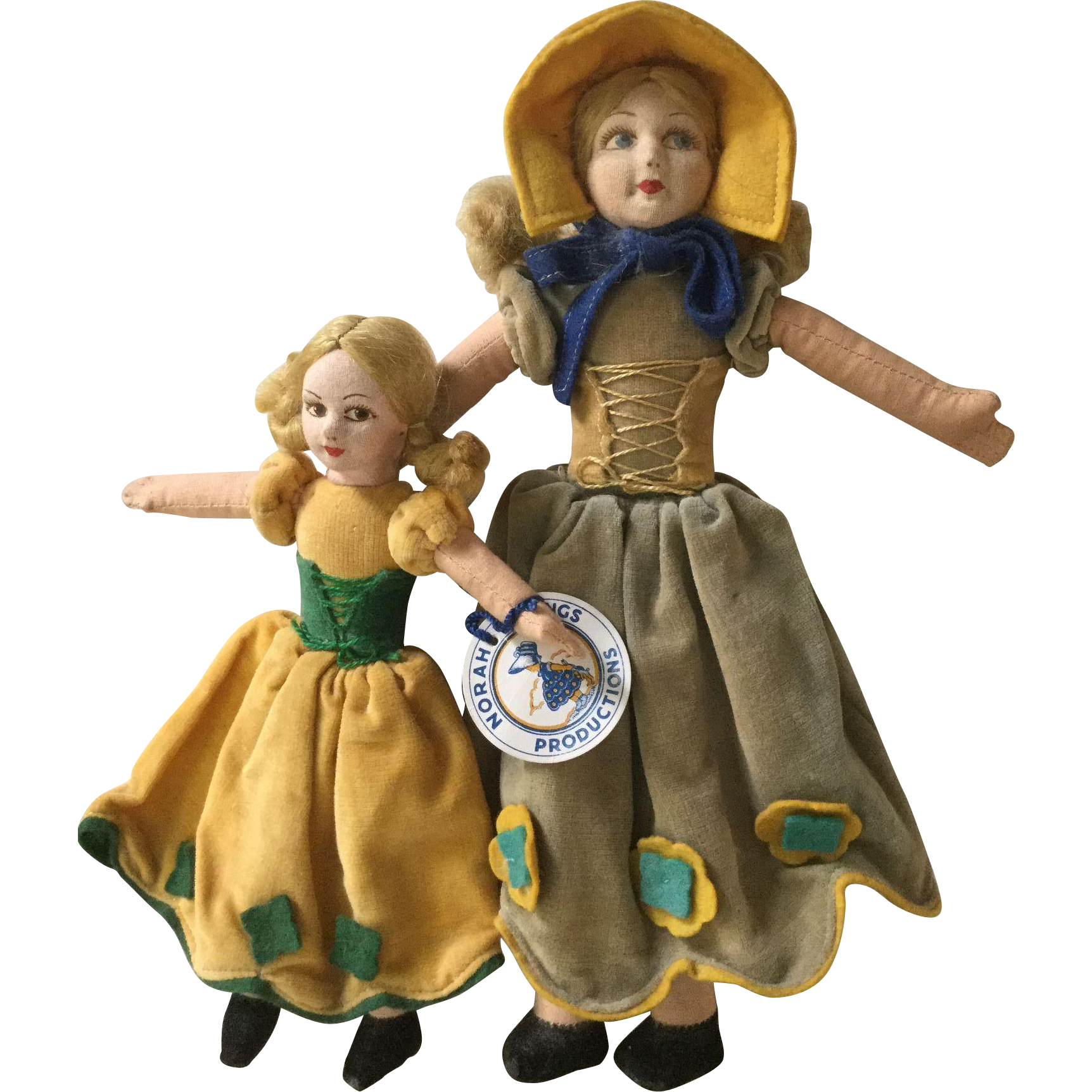 """Two Norah Wellings """"Old English"""" Dolls"""