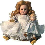 """Dear 7"""" German Mignonette and Her Doll"""