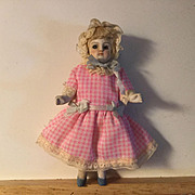 "5"" German Glass Eyed All Bisque Doll"