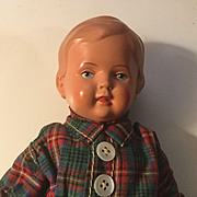 "Dear 9"" German Celluloid Little Boy in AO Condition"