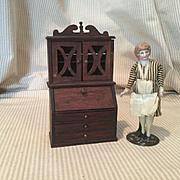 Red Stain Doll House Secretary Desk