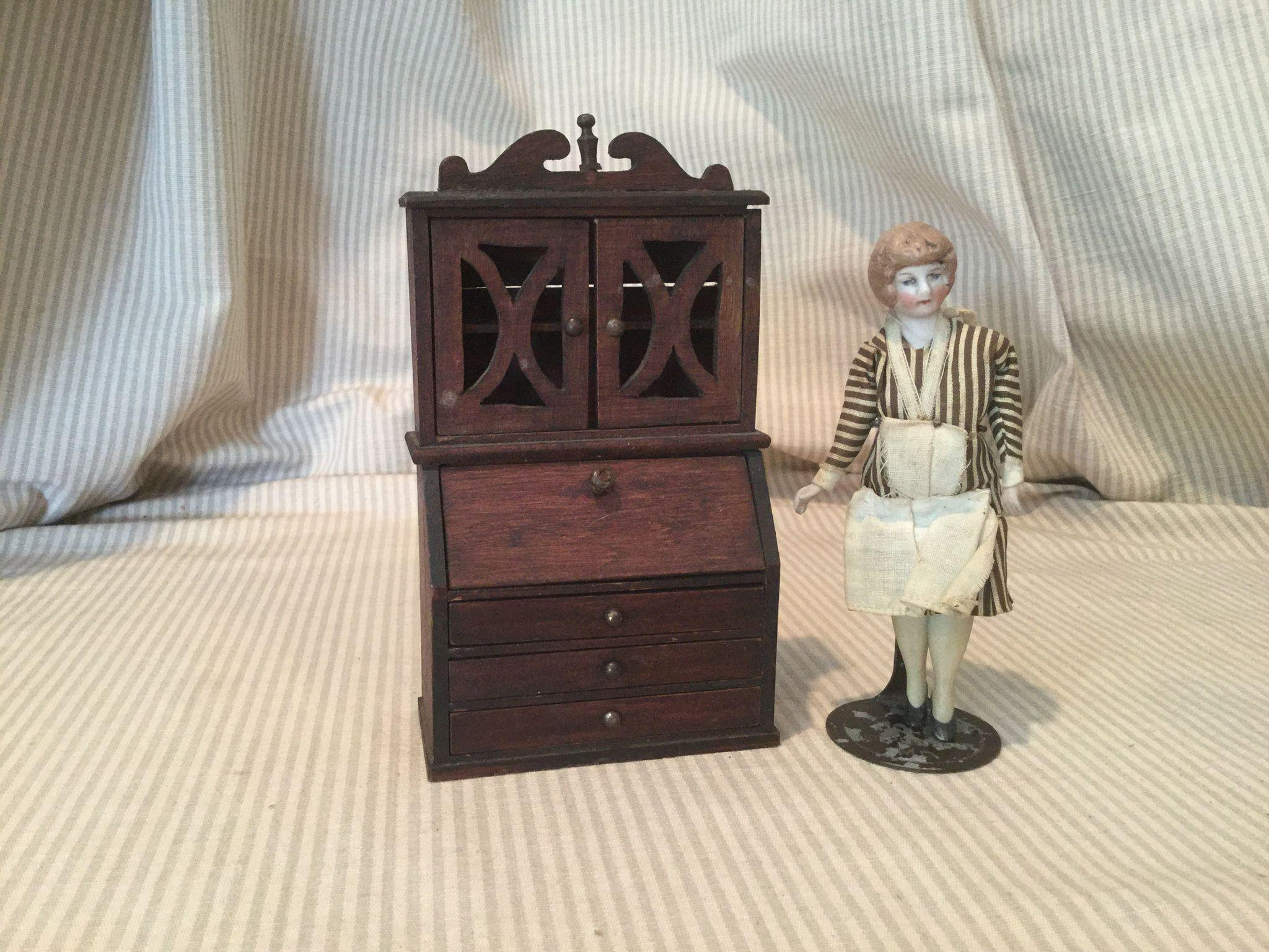 Red Stain Doll House Secretary Desk