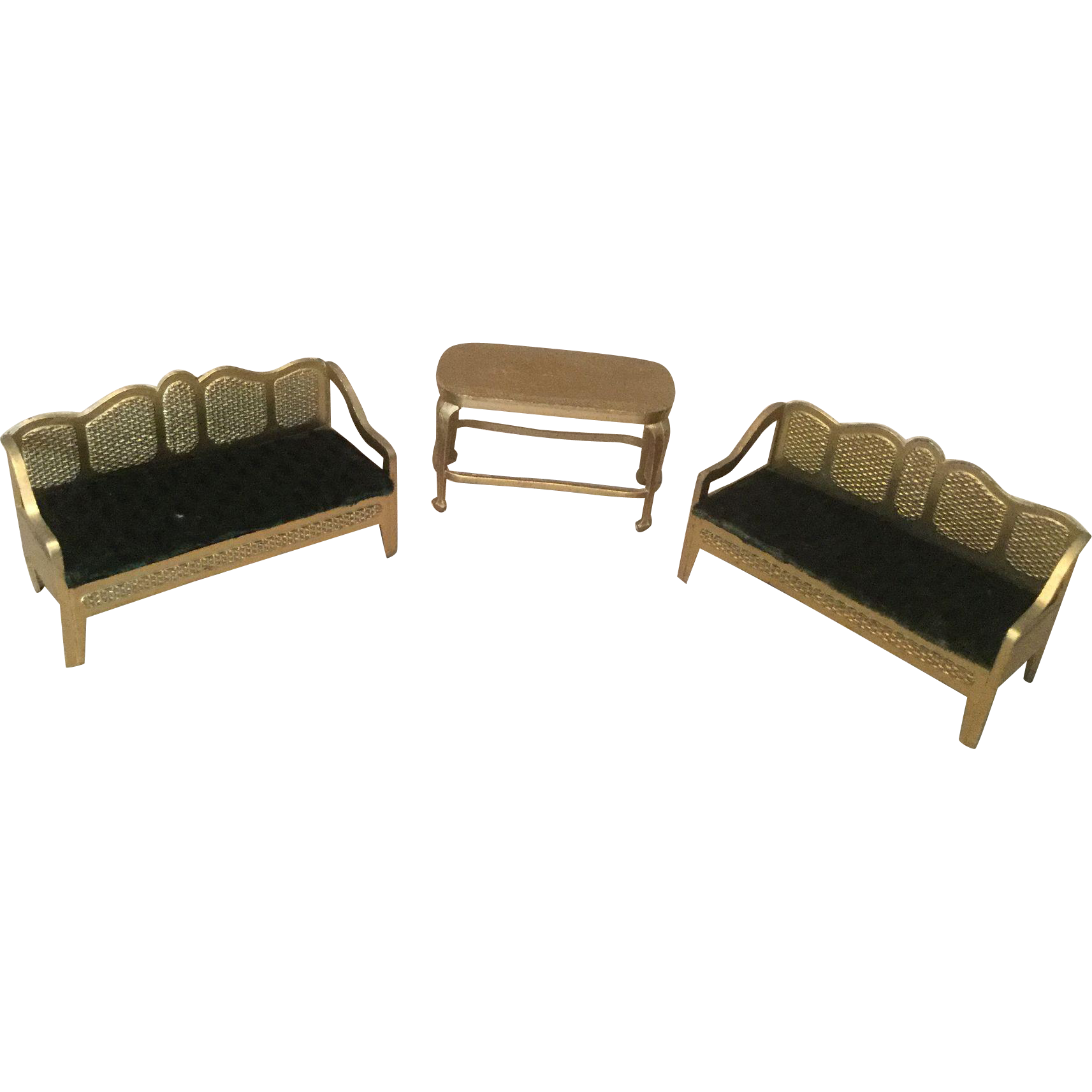 Three Pieces Tootsie Toy Living Room Furniture