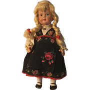 Dear Minerva Celluloid Norwegian Child Doll
