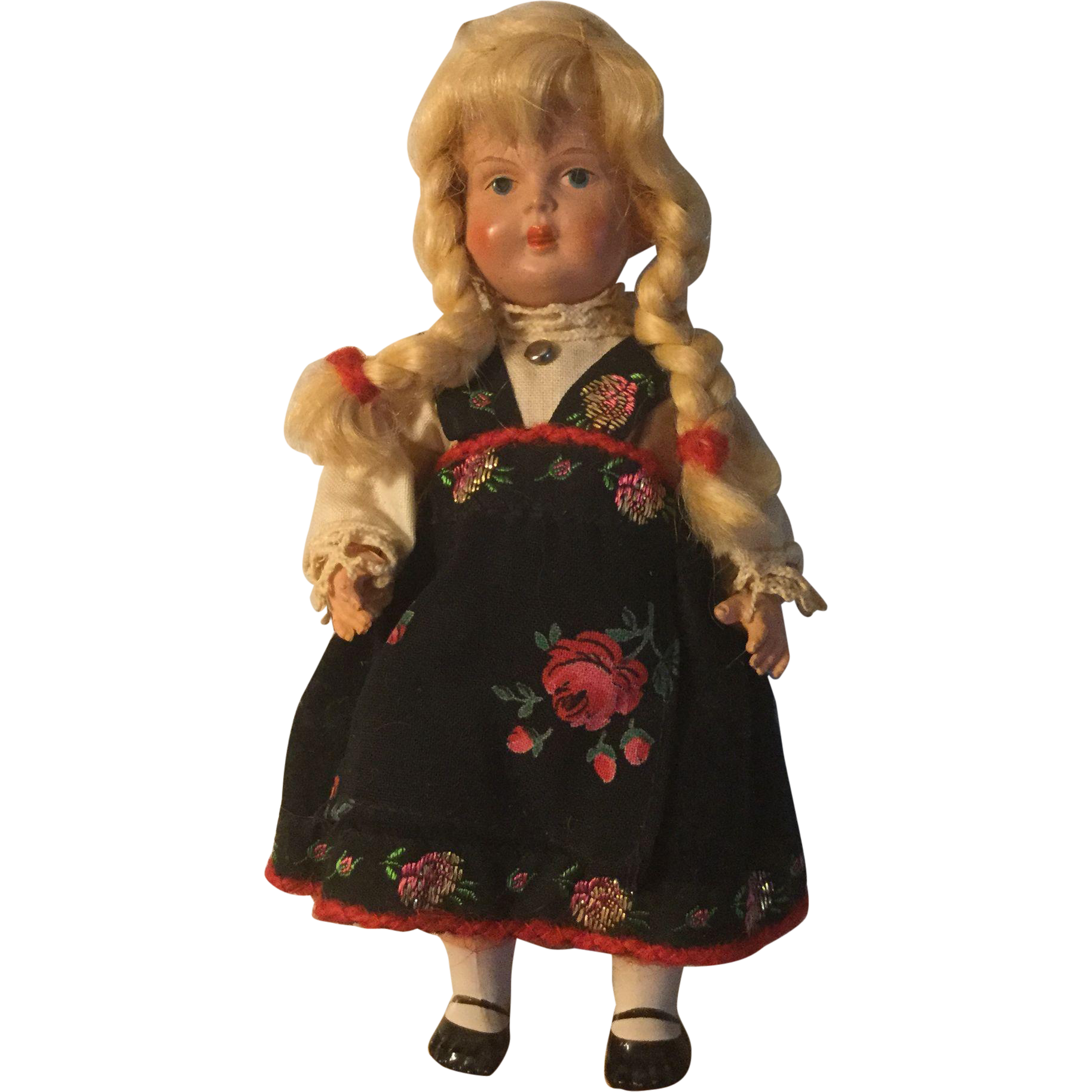 Dear Minerva Celluloid Norwegian Child Doll