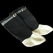 Burson Black and Cream Doll Socks