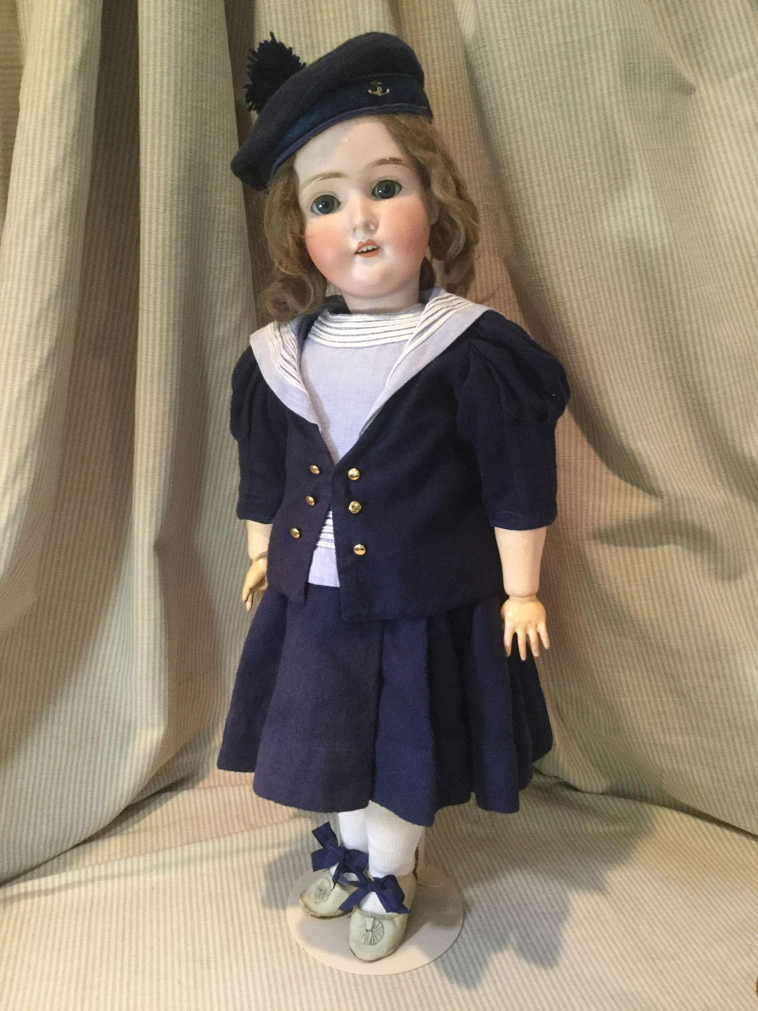 "24"" Pansy III German Doll in Mariner's Outfit"