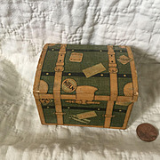 Early 20c. Candy Container Miniature Travel Trunk