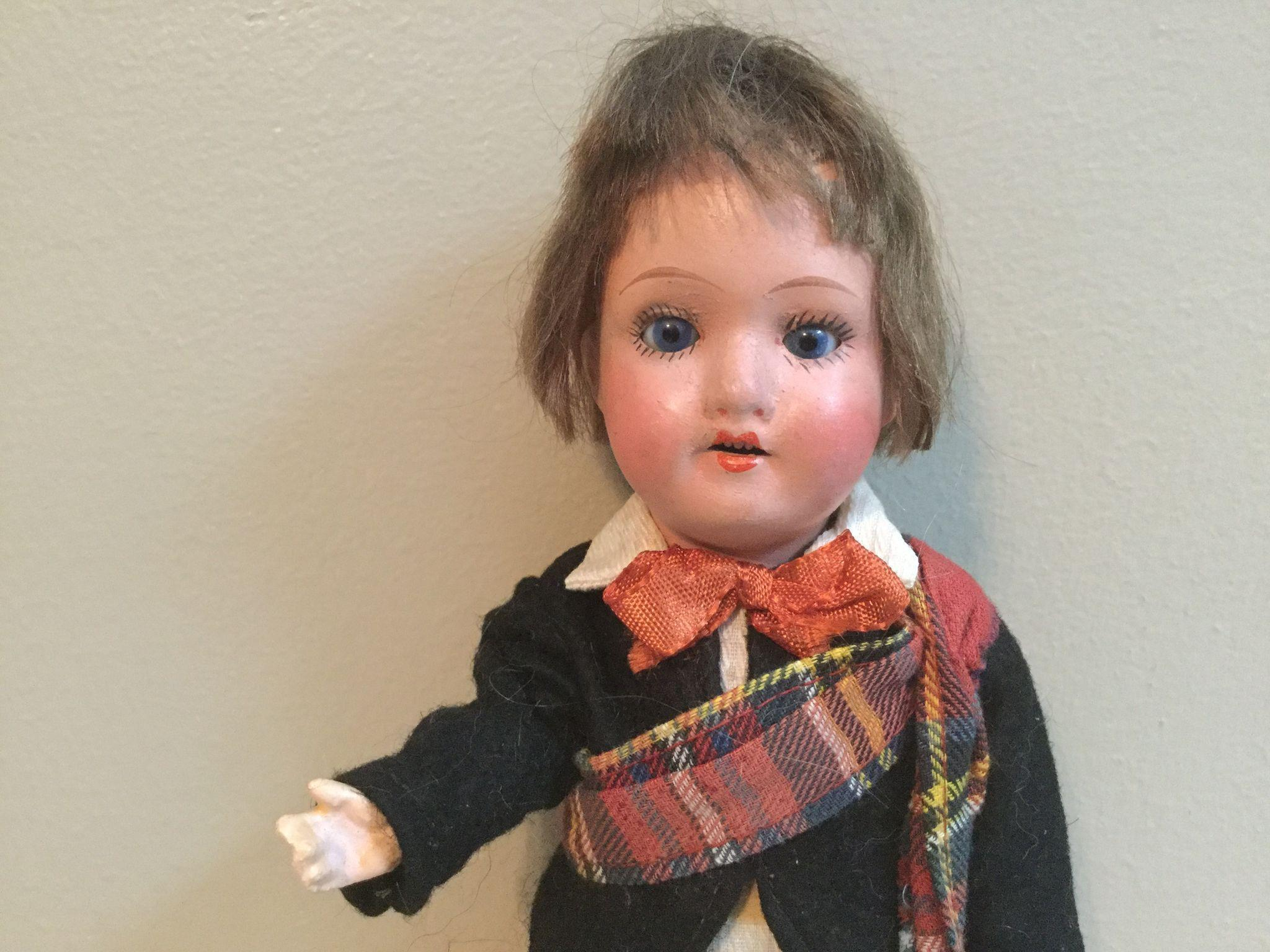 "9"" Scottish Lad Made in Germany Doll"