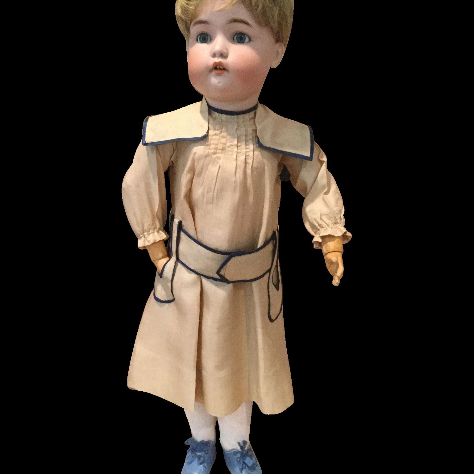 Great Antique Silk School Girl Dress-Lovely Tailoring