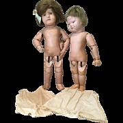 Pair of Schoenhut Dolls to Love and Dress