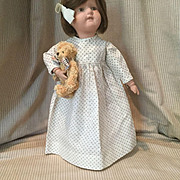 Early 20c. Tiny Print Cotton Night Gown or Dress