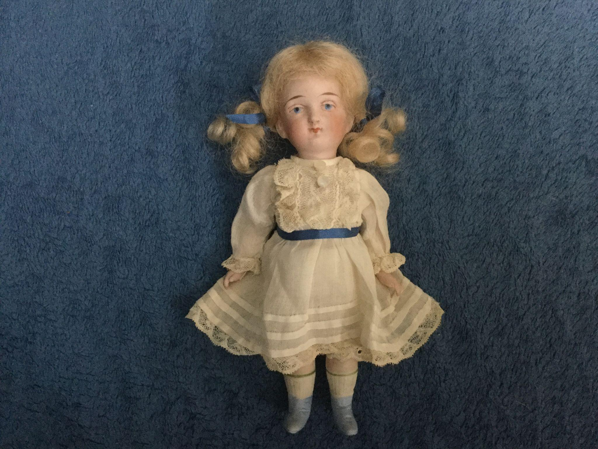 """6"""" All Bisque Sister Doll"""