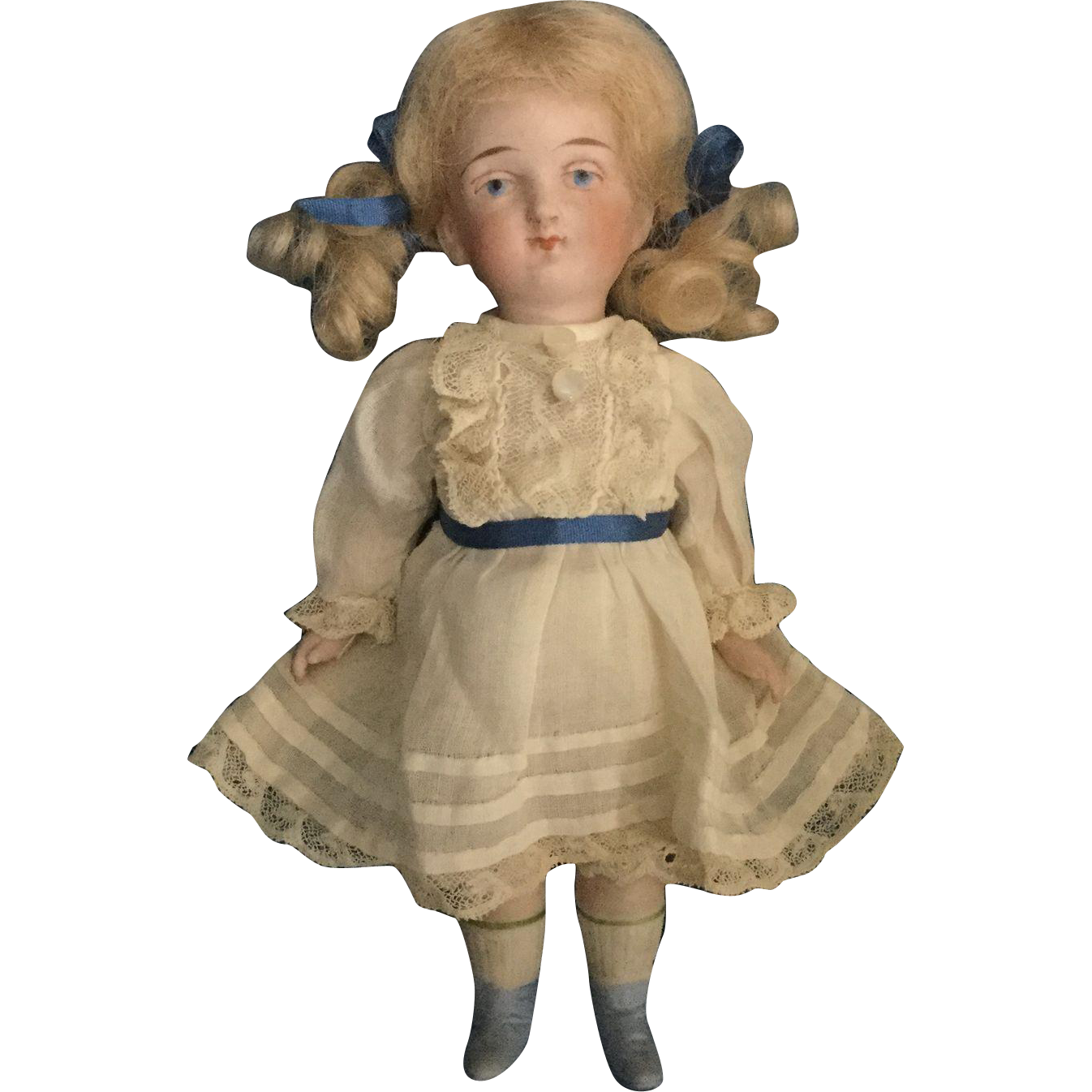 "6"" All Bisque Sister Doll"