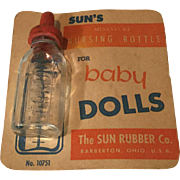 1940/50s Sun Rubber Doll Bottle on Card
