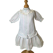 C.1900 Dimity Doll Dress