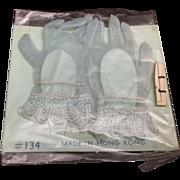 Old Store Stock Blue Nylon Doll Gloves-Cissy Type