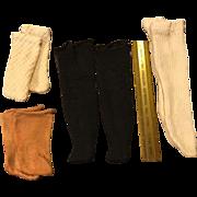 4 Pair of Early 20c. Doll Socks