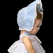 Vintage Wide Brimmed Bonnet with Lace Trim